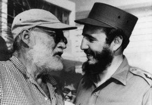 فیدل کاسترو و ارنست همینگوی