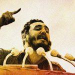 Fidel Castro, speaking