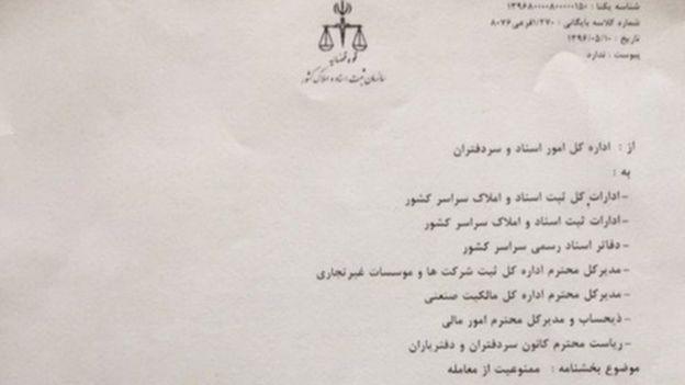 حکم سازمان ثبت اسناد در ممنوعیت از معامله