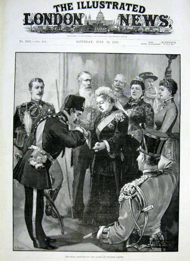 روی جلد «اخبار مصور لندن» ۱۳ جولای ۱۸۵۰، دیدار ناصرالدین شاه با ملکه ویکتوریا