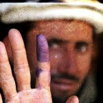 Inked Finger in Afghanistan Election